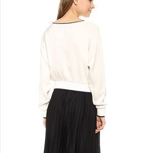 2c85fdfe672bfb Theory Tops - NWT Theory Delpy Georgette S Blouse